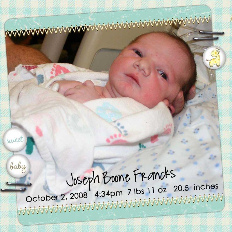 He's Here - baby Joey