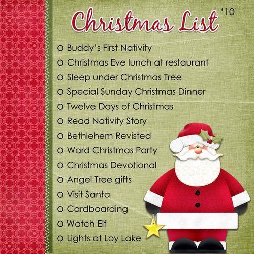 Christmas List '10