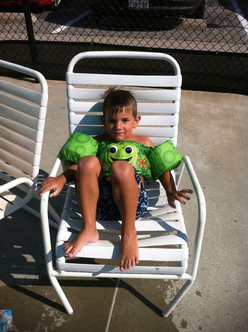Buddy at pool-001
