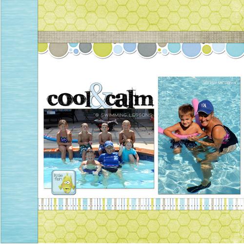 Swimming lessons left