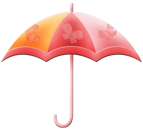 Ettes-Umbrella-pink chipboard