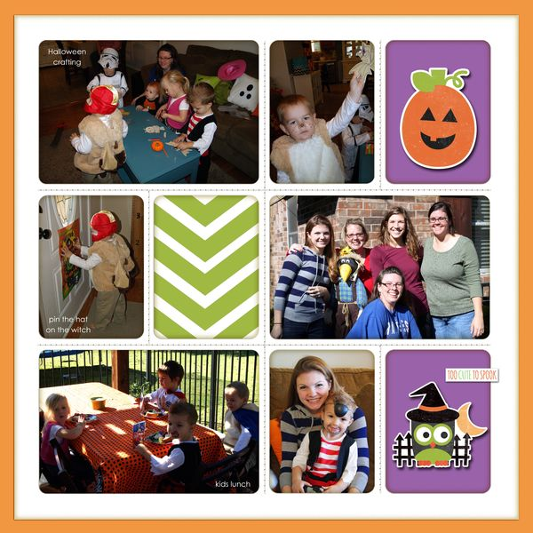 Preschool halloweey party - Right PRINT