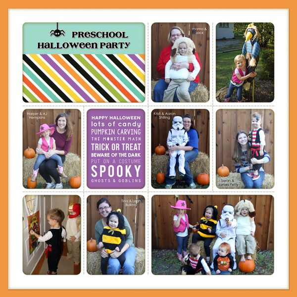 Preschool halloween party - Left PRINT